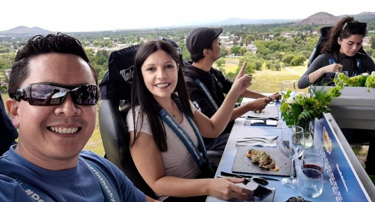 Dinner In The Sky en Teotihuacán 2019